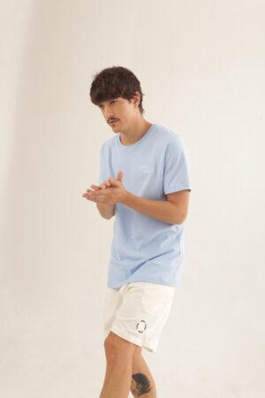 T-shirt Welcome – Azul