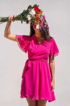 Vestido Babados – Rosa