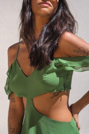 Blusa Babados – Verde
